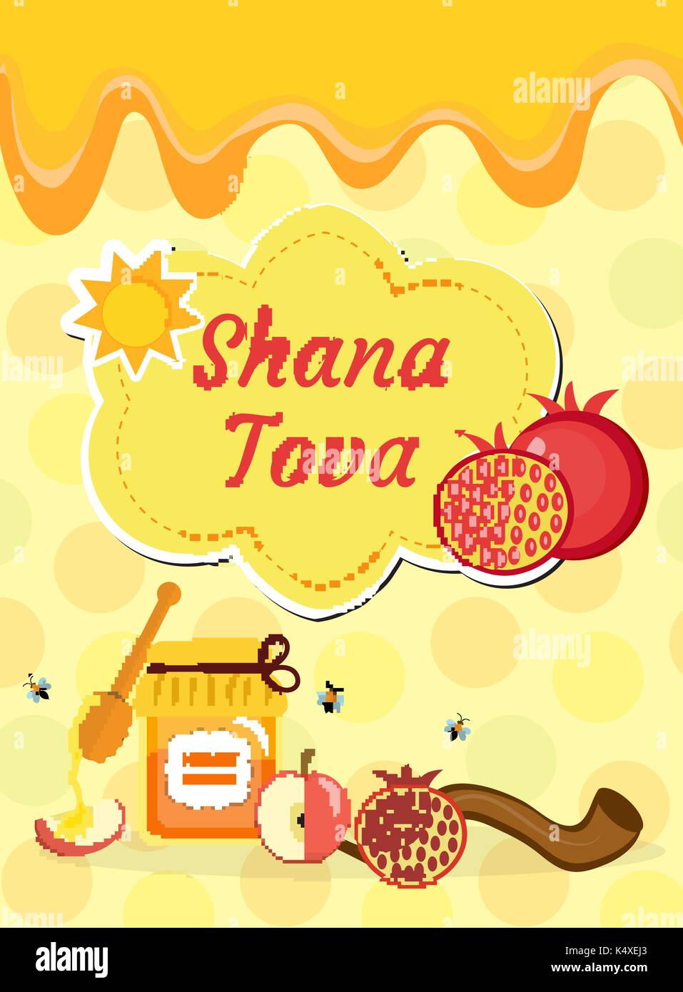 Tova stock photos tova stock images alamy rosh hashanah poster flyer invitation greeting card shana tova is a template kristyandbryce Choice Image