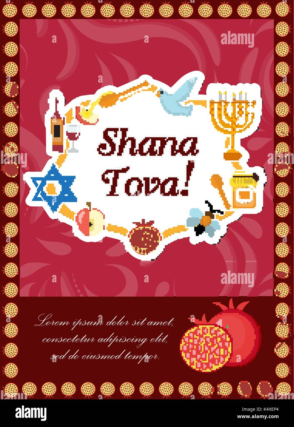 Shana stock photos shana stock images alamy rosh hashanah poster flyer invitation greeting card shana tova is a template kristyandbryce Choice Image