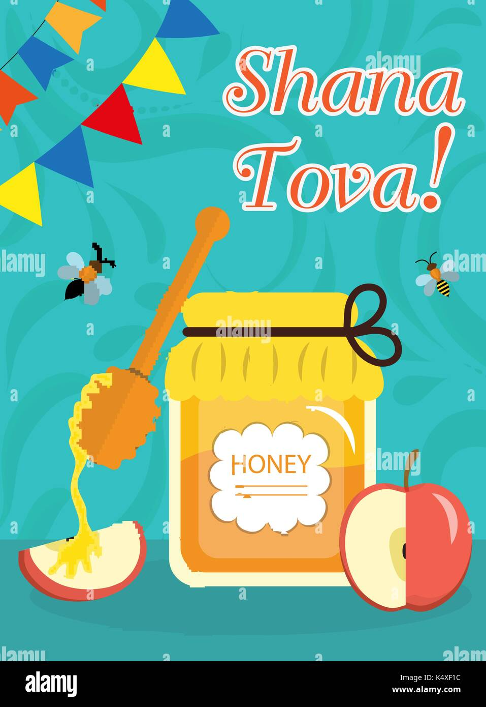 Rosh Hashanah Poster Flyer Invitation Greeting Card Shana Tova