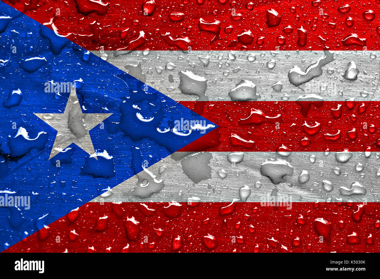 Puerto rican national flag stock photos puerto rican national flag of puerto rico with rain drops stock image biocorpaavc Image collections