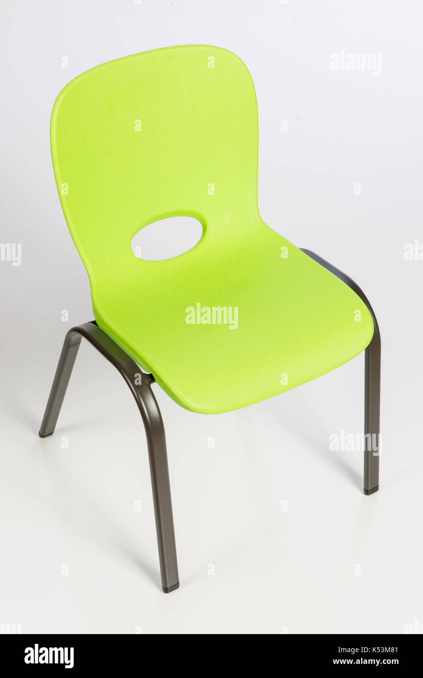 small child chair. Young Child Chair Isolated On White Background. - Stock Image Small