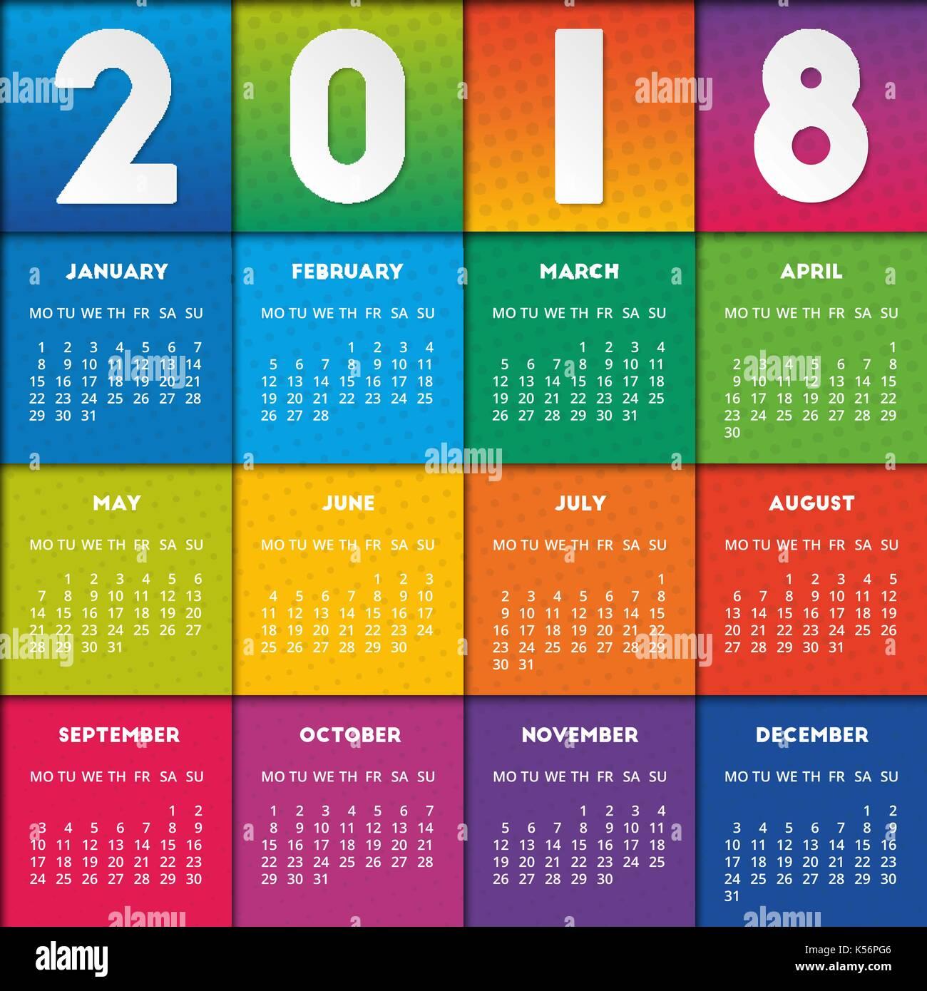 january 2018 calendar free