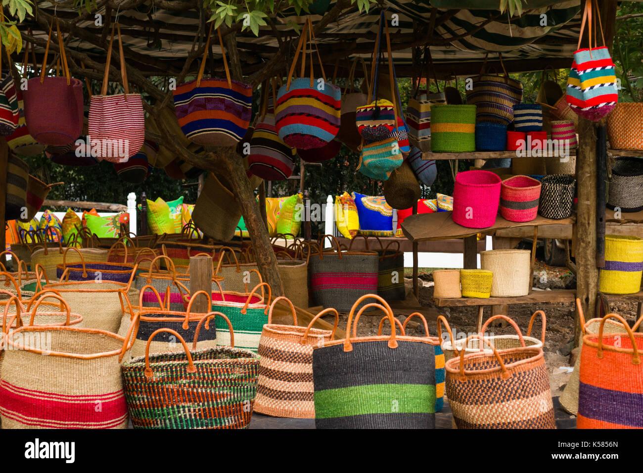 Kenyan Handmade Baskets : Sisal africa stock photos images alamy