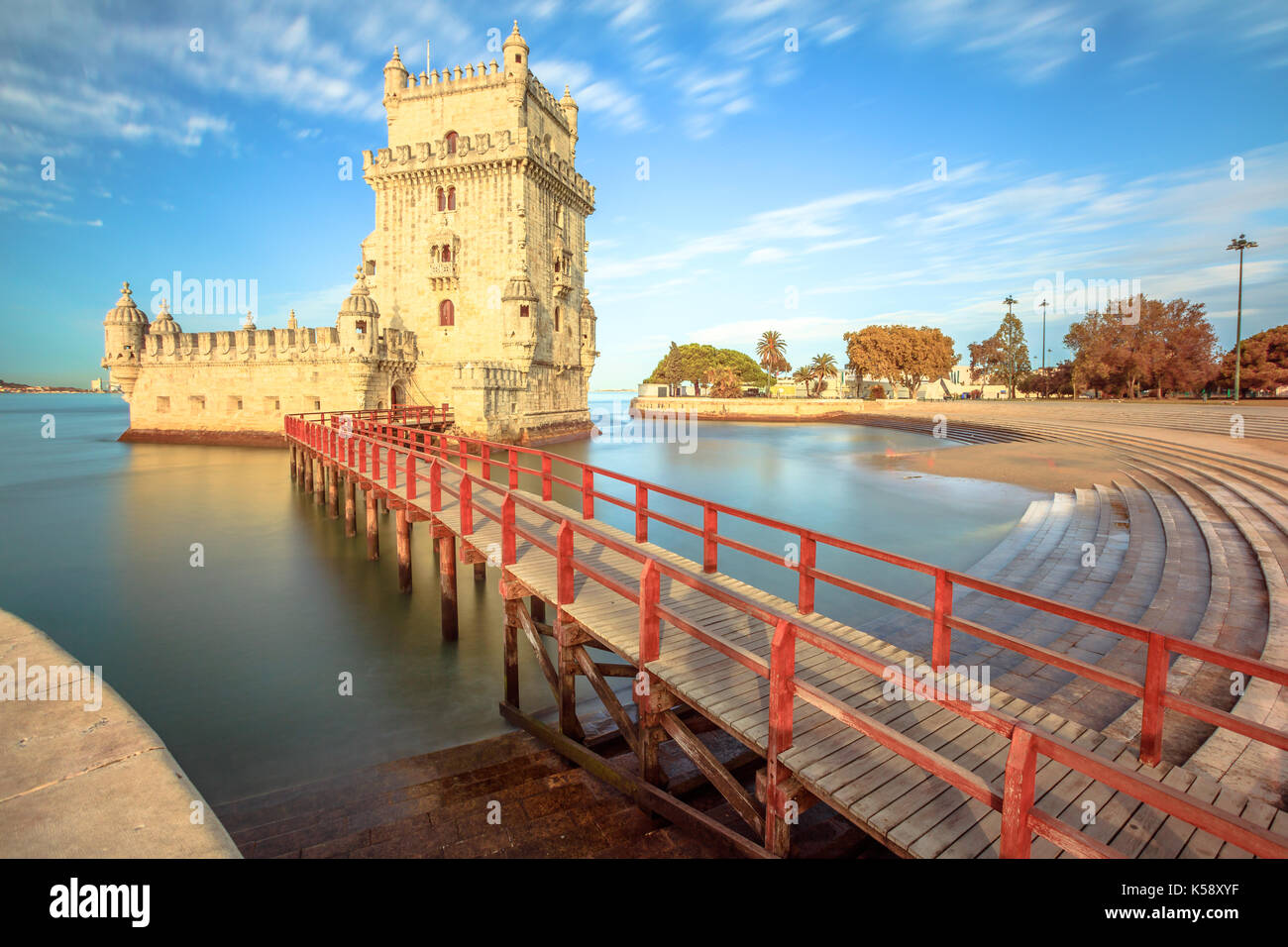 Belem tower at low tide in the morning torre de belem is unesco belem tower at low tide in the morning torre de belem is unesco heritage and symbol of lisbon in belem district on tagus river belem tower is the m biocorpaavc