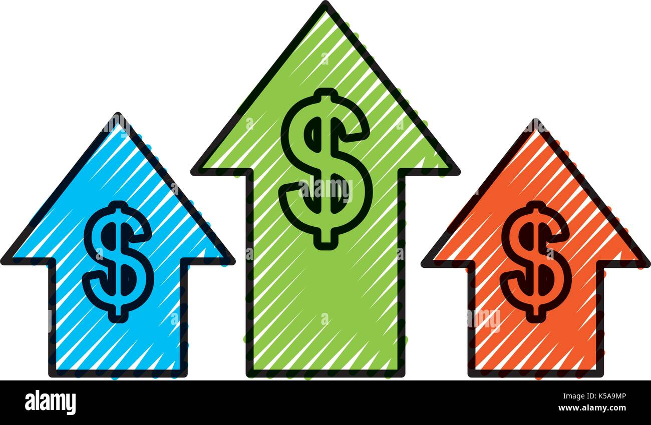 Business Arrow Growth Chart Money Dollar Stock Vector Art