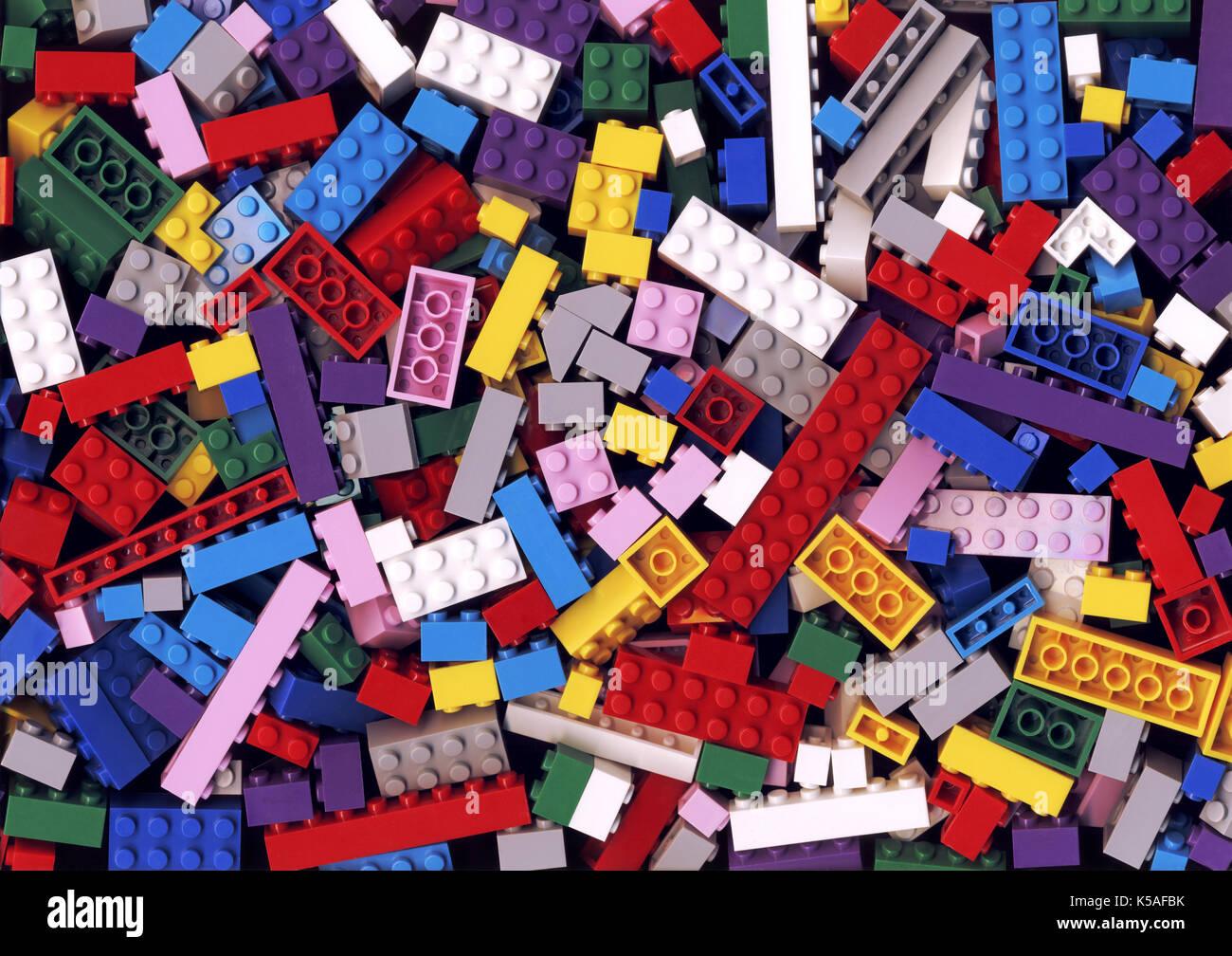 Colorful lego background