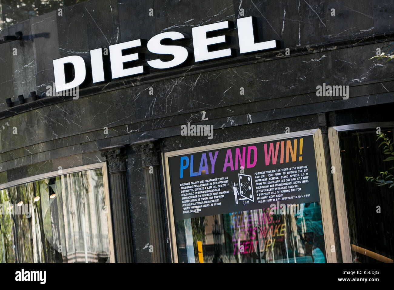 Clothing store in spain stock photos clothing store in spain a logo sign outside of a diesel clothing retail store in barcelona spain on august solutioingenieria Image collections