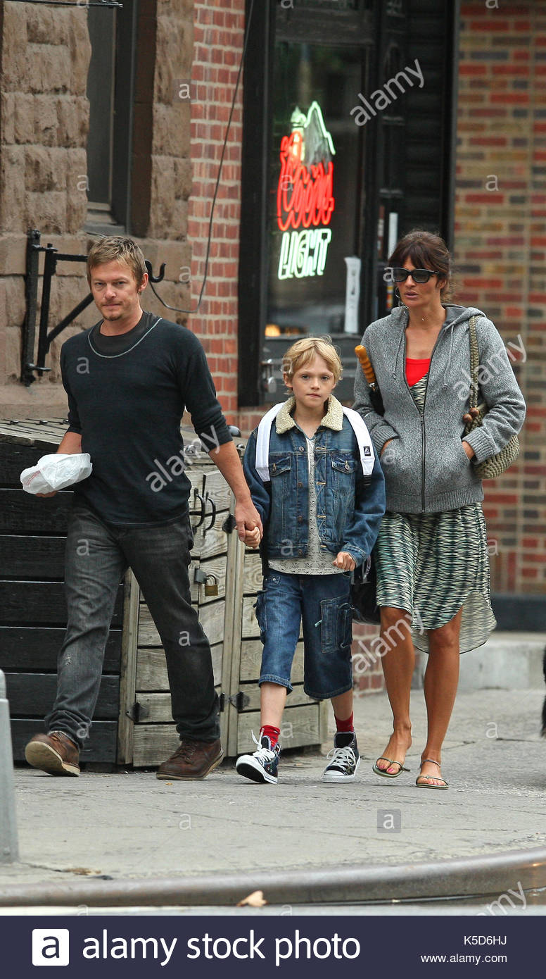 Helena Christensen Norman Reedus Mingus Her Ex Boyfriend And Their Son Take A Walk In The West Village