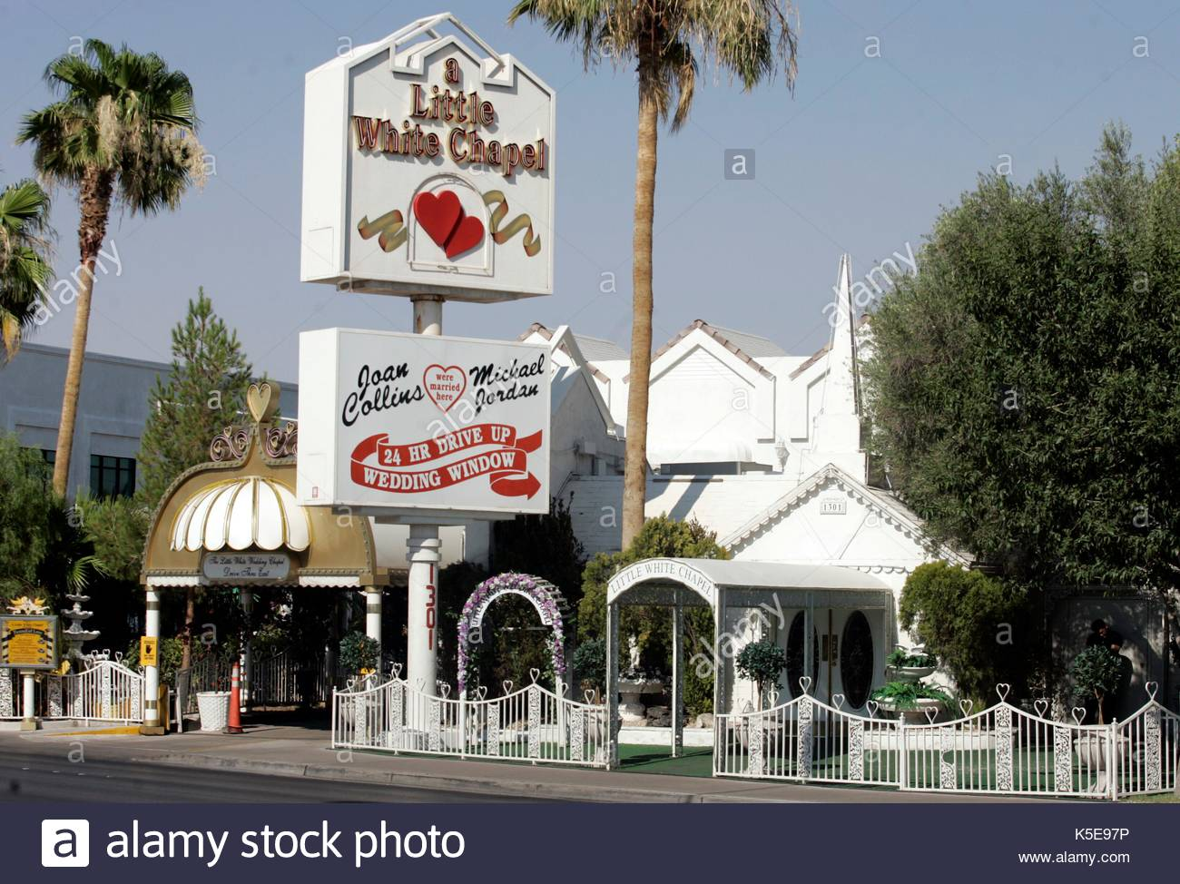 Little White Wedding Chapel In Las Vegas Where It Is Reported That Christina Milian And The Dream Got Married Last Week