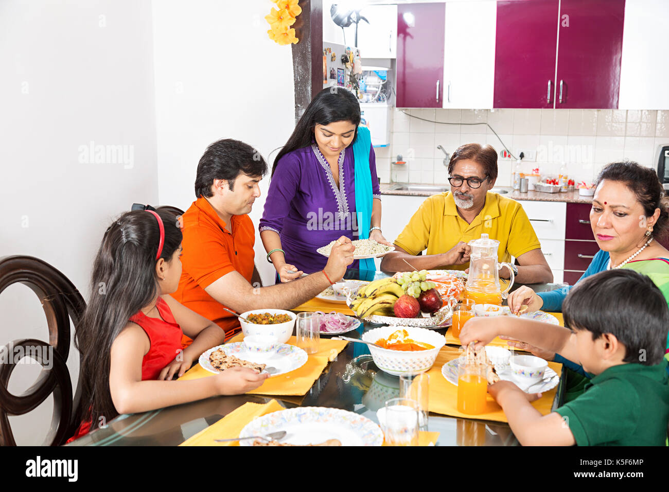 Big Family Dining Table Eating Cuisine Food Dinner Dining Room