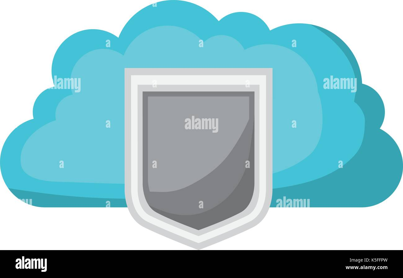 Global Communication Data Protection Service Stock Photos Services Cloud Storage Shield Icon And Shading Image