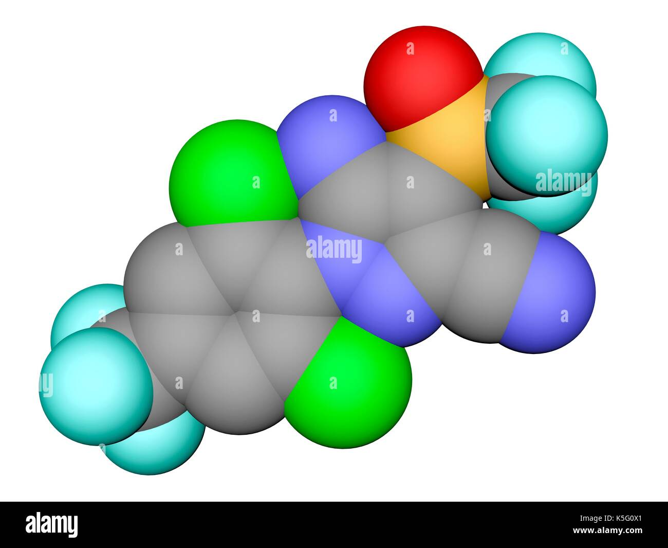 Fipronil insecticide space filling molecular model atoms are stock fipronil insecticide space filling molecular model atoms are represented as spheres with colour coding carbon grey oxygen red nitrogen blue ccuart Choice Image