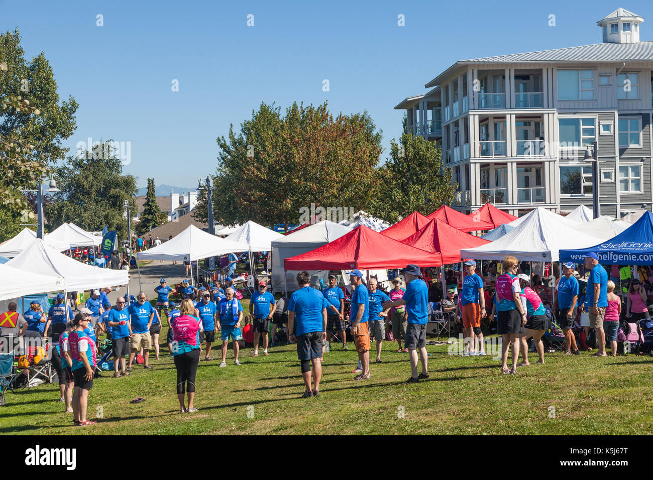 Team tents and pre-race workout at the 2017 Steveston Dragon Boat Festival & Team tents and pre-race workout at the 2017 Steveston Dragon Boat ...
