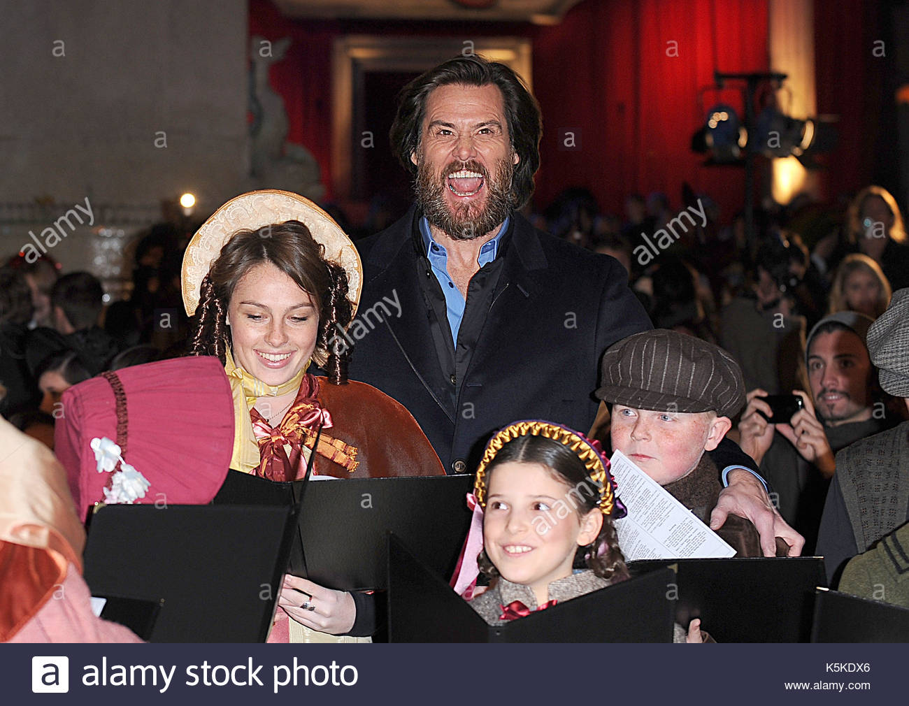 Jim Carrey. The world premiere of \'A Christmas Carol\' in Leicester ...