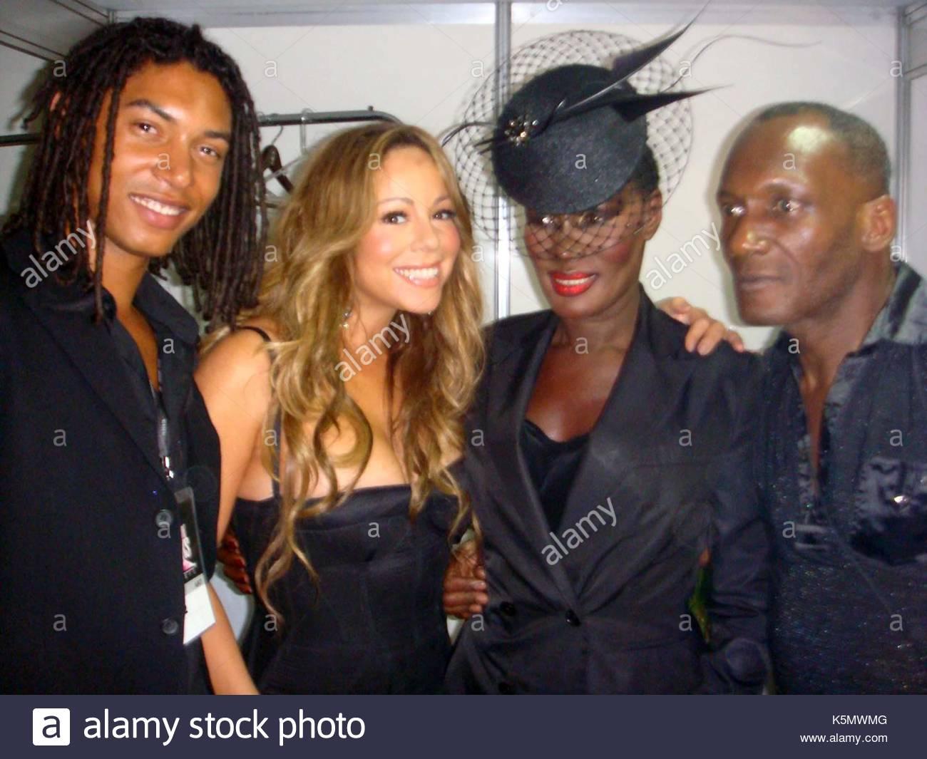 Paolo Goude Mariah Carey Grace Jones and Chris Jones Grace