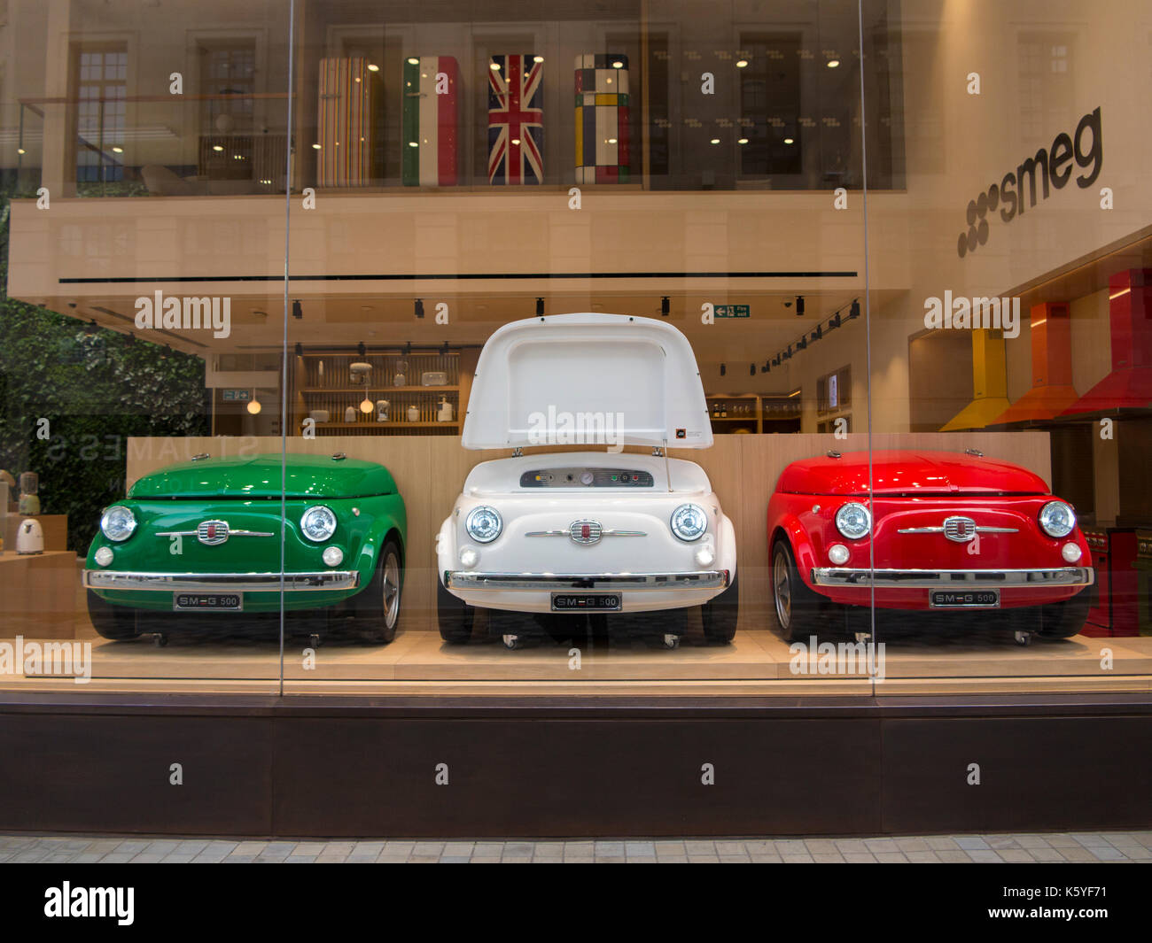 Fiat Fridges In A Display Showroom In London Stock Photo - Fiat dealers in london