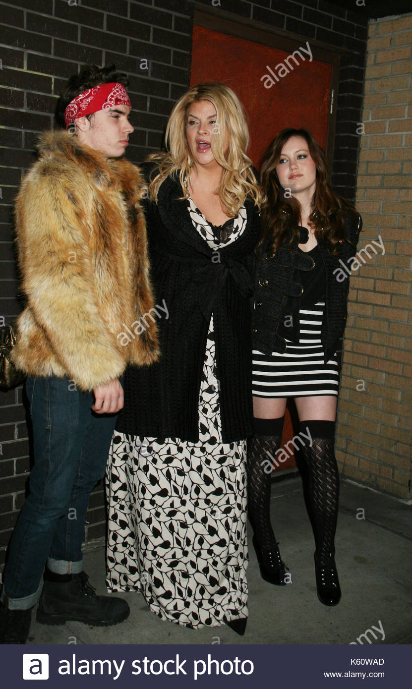 Kirstie Alley and her children, William True and Lillie ...