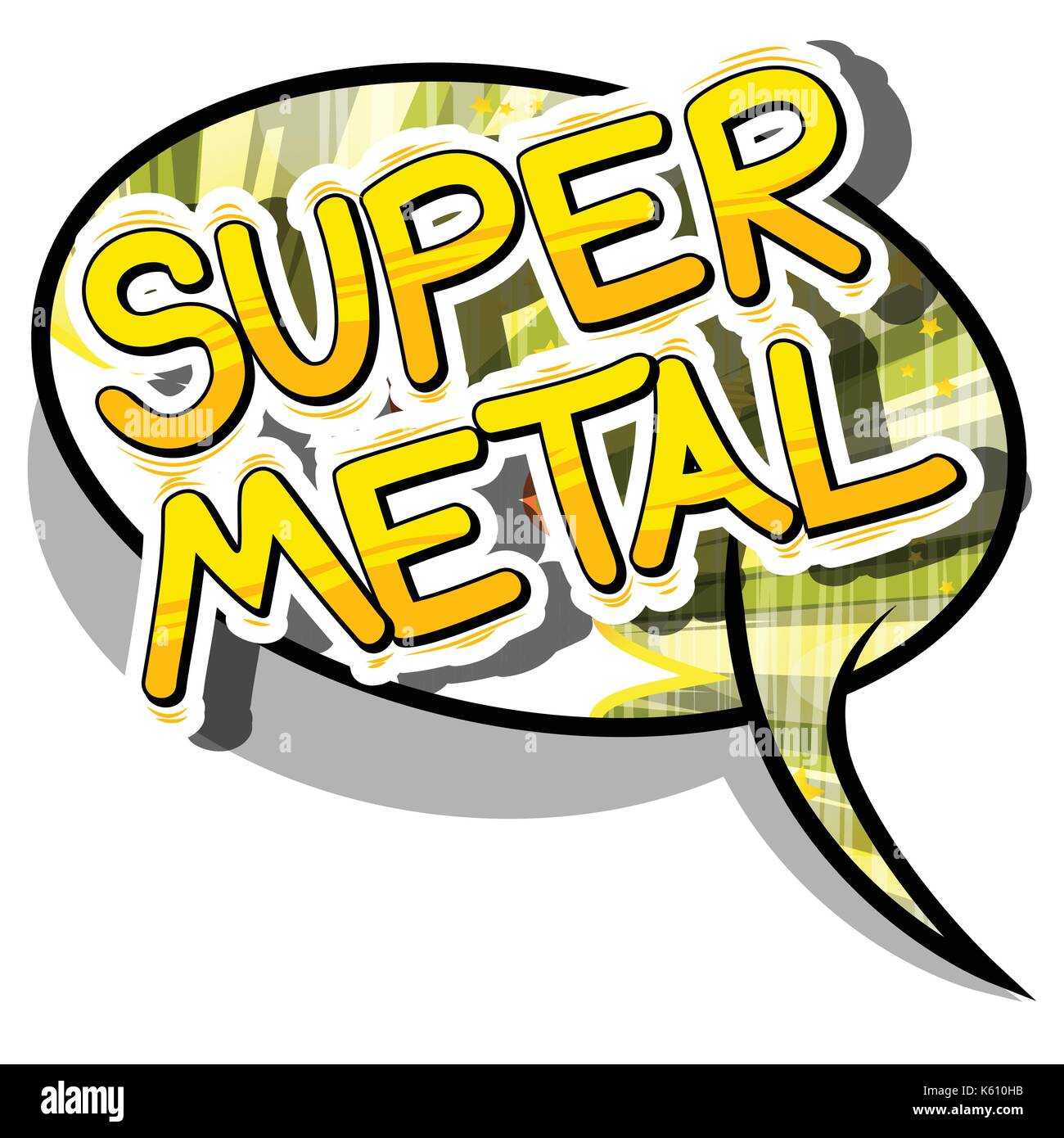Super Metal - Comic book word on abstract background Stock Vector ...