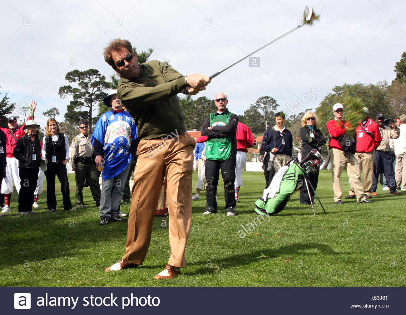 Huey Lewis. Various celebrities playing golf in the 3M Challenge at on