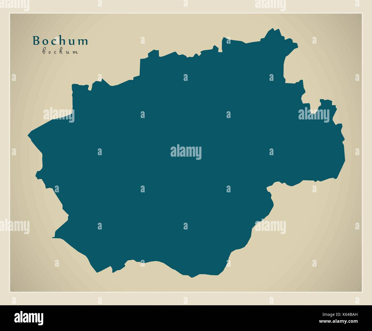 Modern Map Bochum city of Germany DE Stock Vector Art