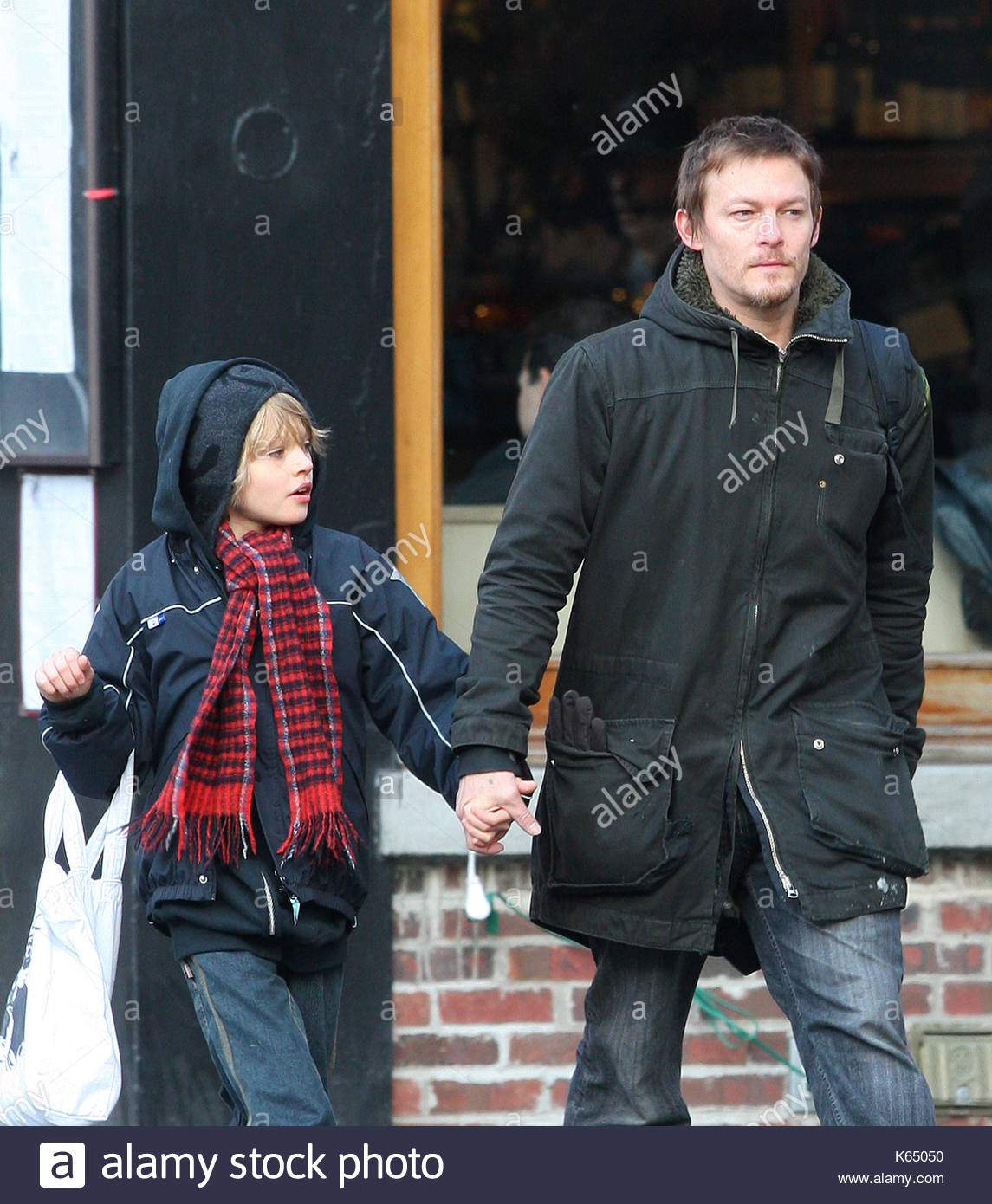 Norman Reedus And Son Mingus His Take A Walk