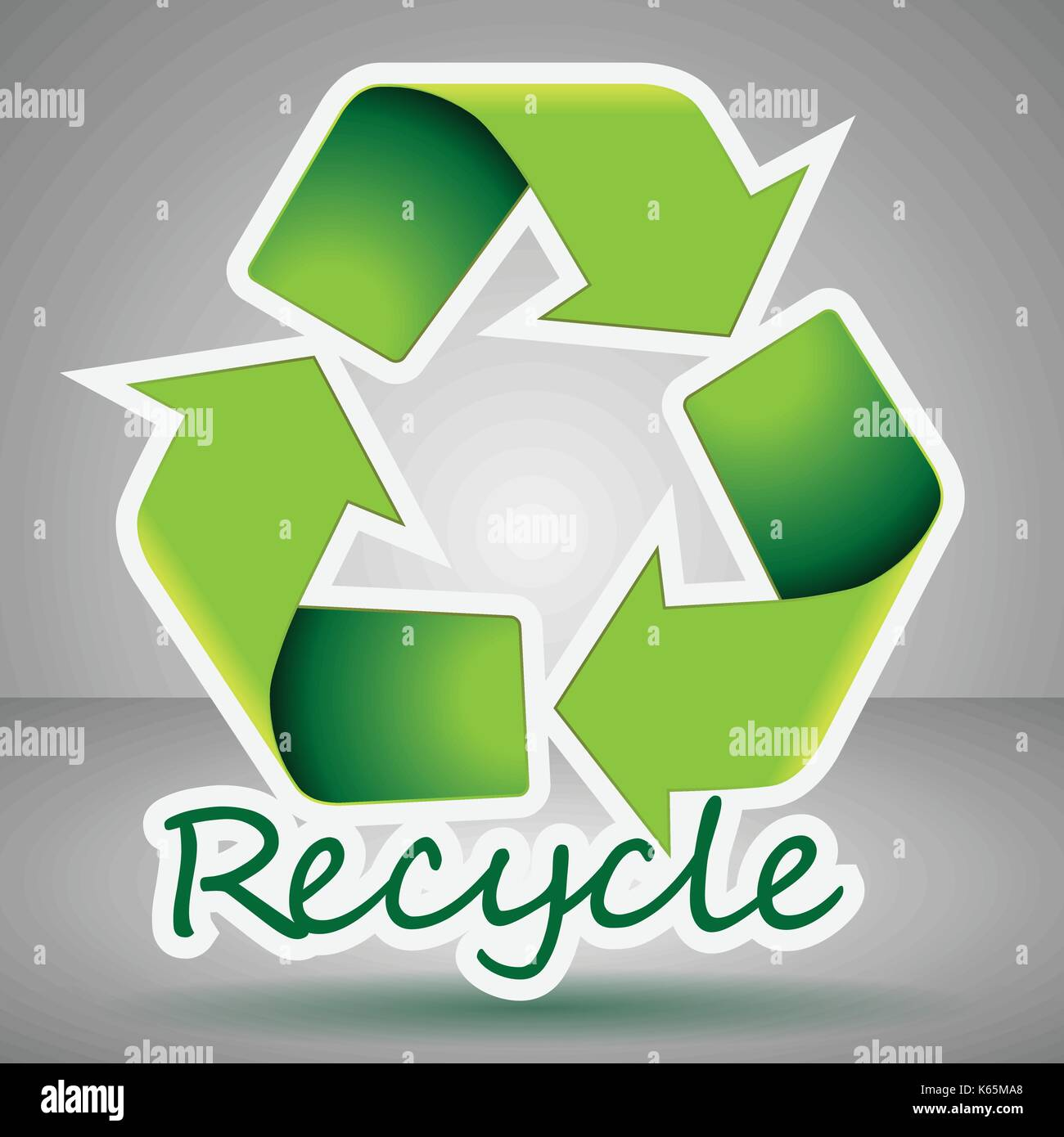 Waste product stock vector images alamy abstract green eco 3d recycle sign environmentally friendly reusable resource paper cut arrow label buycottarizona Choice Image