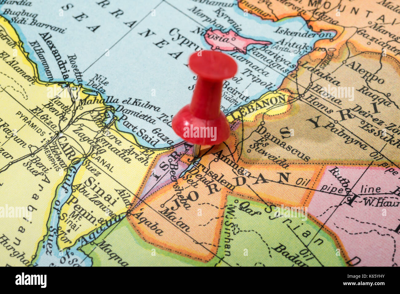 World Map Finder Of Jerusalem. Jerusalem Map World Vintage style map showing in Israel with push  pin Stock Image Picture Ideas References