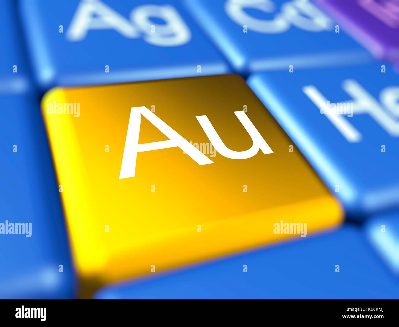 Gold chemical element stock photos gold chemical element stock computer artwork of a close up of the periodic table focussed on the chemical element gamestrikefo Image collections