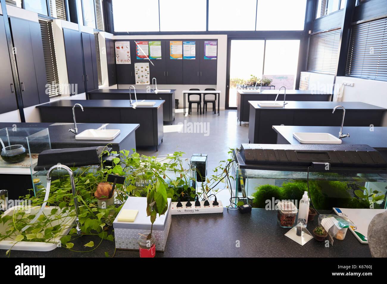 Modern Elementary School Classroom ~ Modern science classroom in an elementary school stock