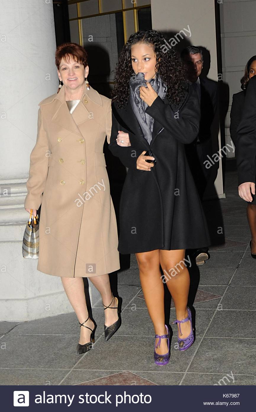 Alicia Keys Alicia Keys Is Seen With Bright Purple Shoes On Stock