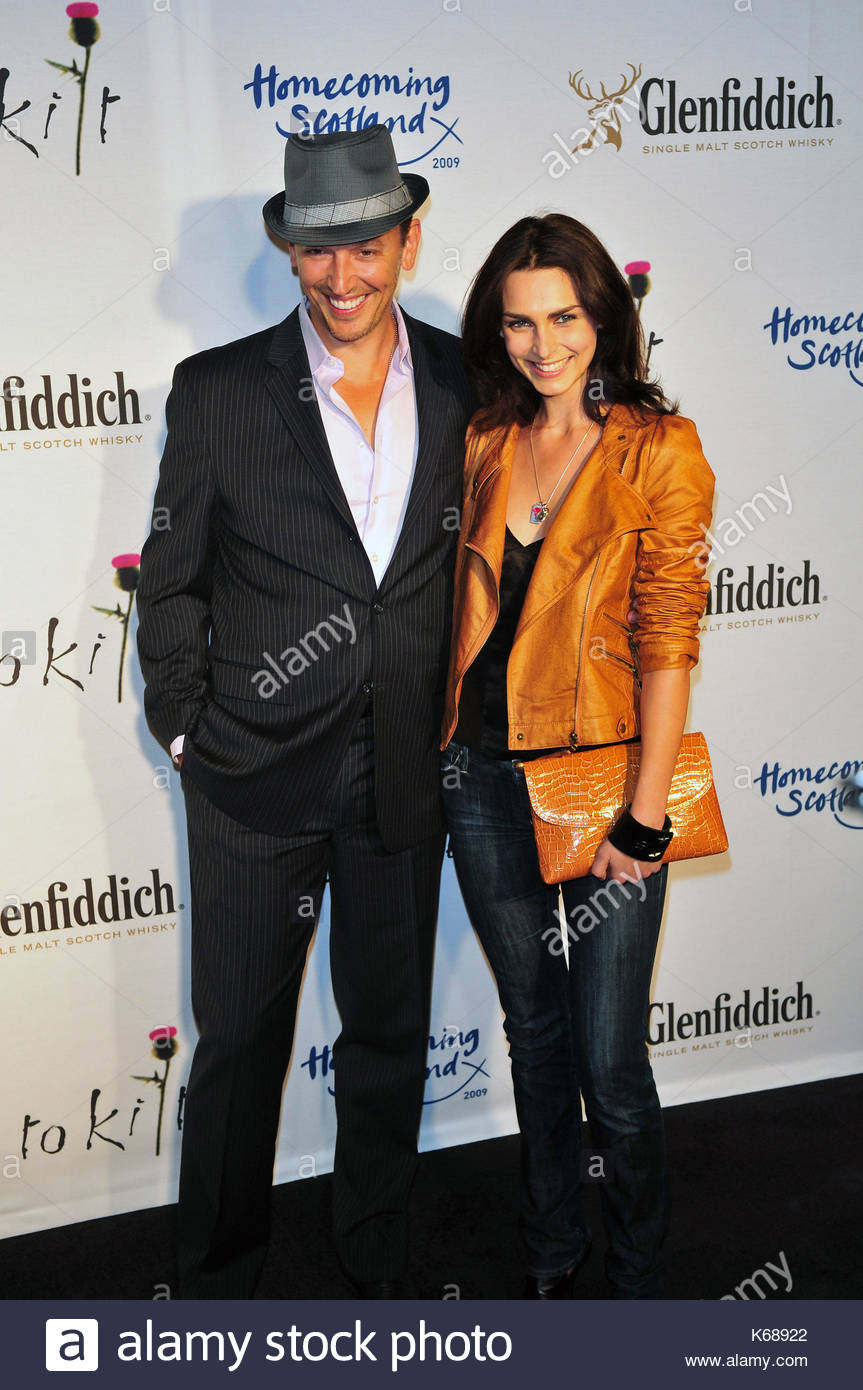 Steve Valentine And Inna Korobkina At The Tartan Week Celebrity Fashion  Show In New York City. The Event Was Kicked Off By Sir Sean And Lady  Connery.