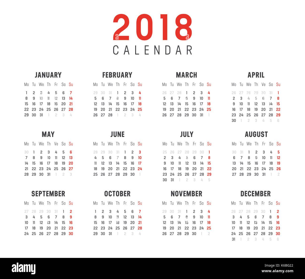 February 2018 Calendar Vintage : Calendar stock photos images