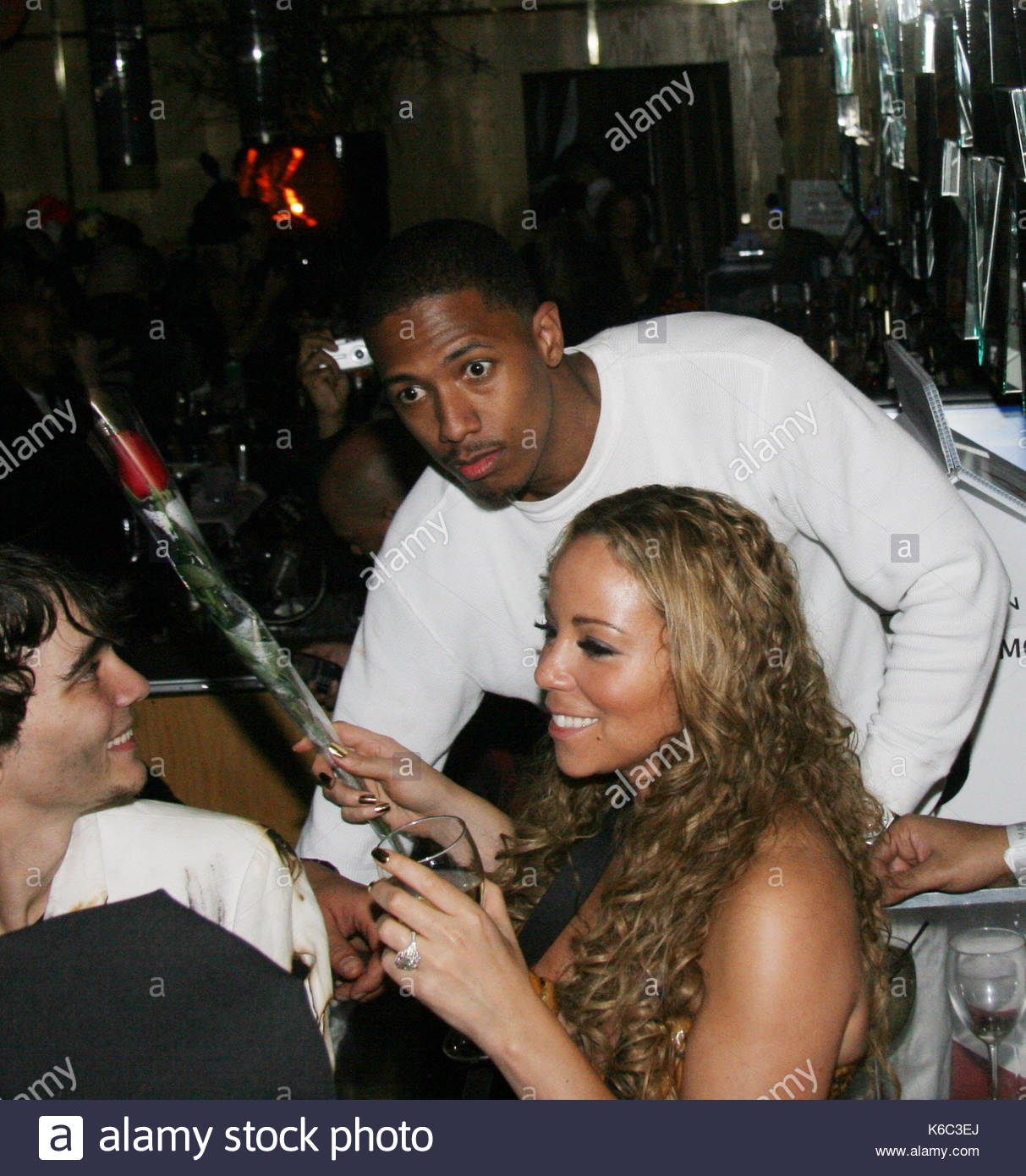 Nick Cannon and Mariah Carey. Mariah Carey and Nick Cannon host a ...