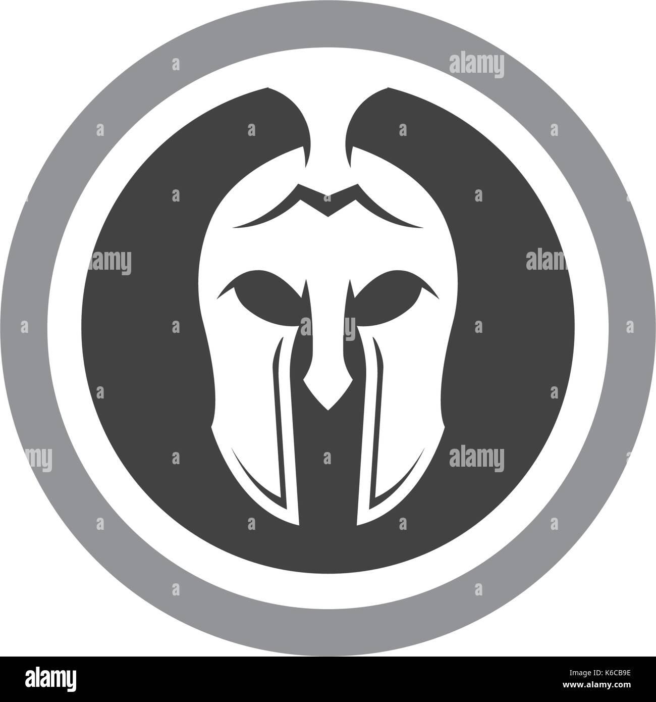 spartan helmet logo template vector icon design stock vector art