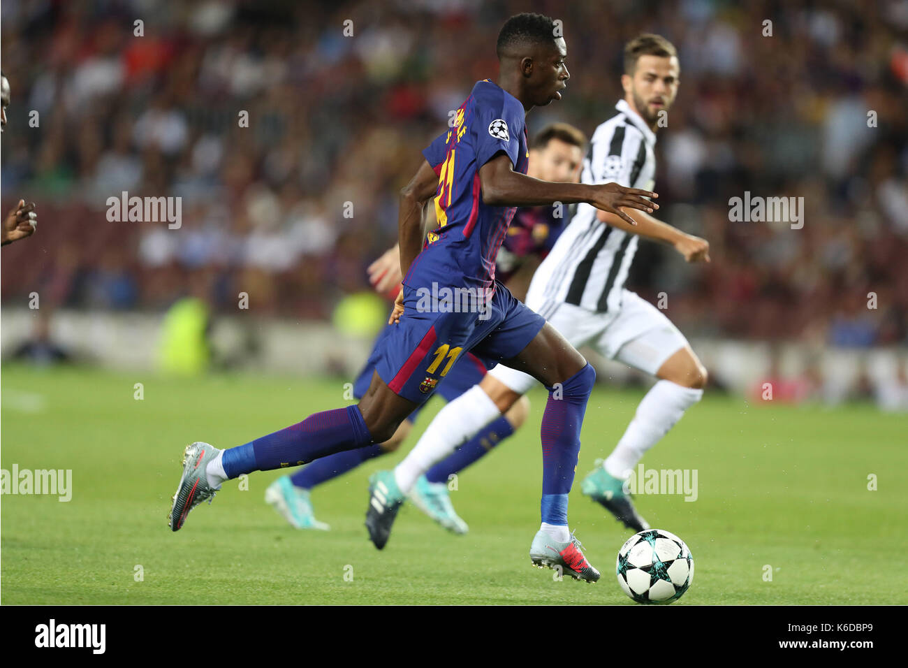 Barcelona Spain 12th Sep 2017 Ousmane Dembele of FC Barcelona