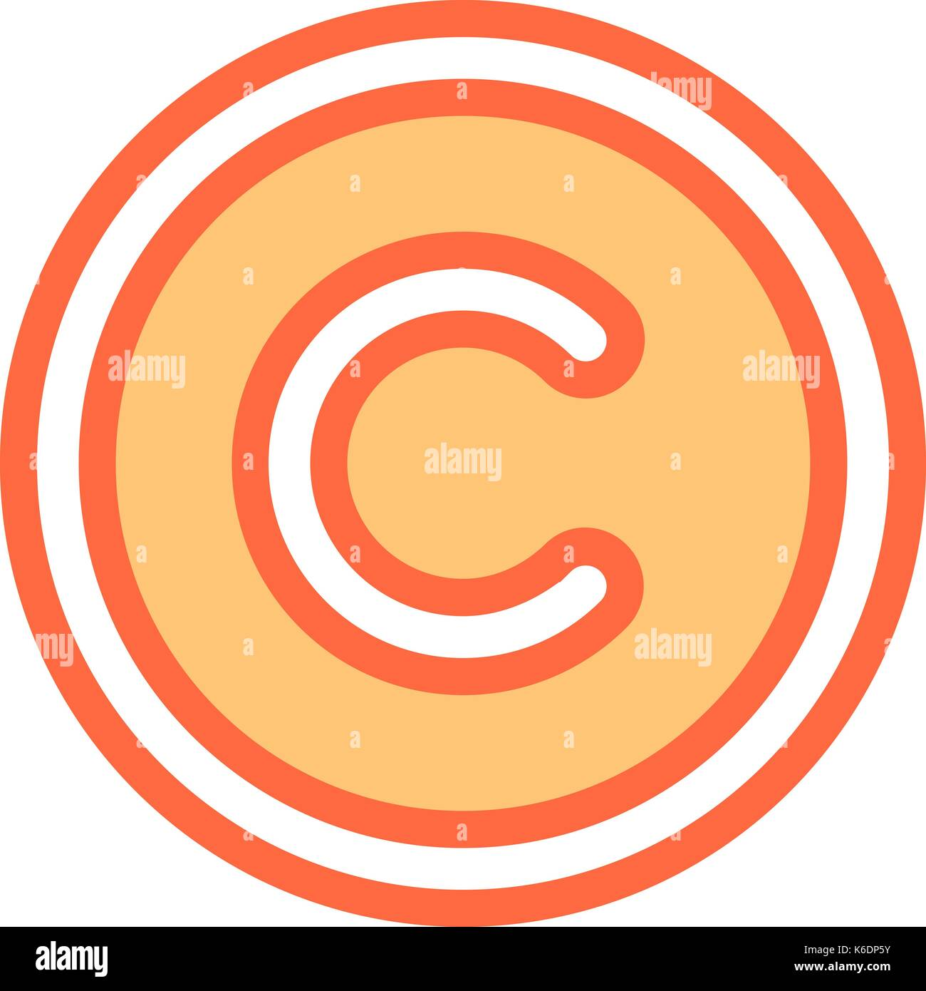 Use it in all your designs the copyright symbol or copyright the copyright symbol or copyright sign a circled capital letter c flat style button web internet icon vector illustrat biocorpaavc