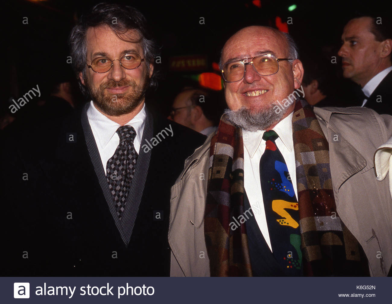 Steven Spielberg and Thomas Keneally. Steven Spielberg and Thomas Keneally,  the writers of the screen play Schindlers List, seen at the London premiere  of ...