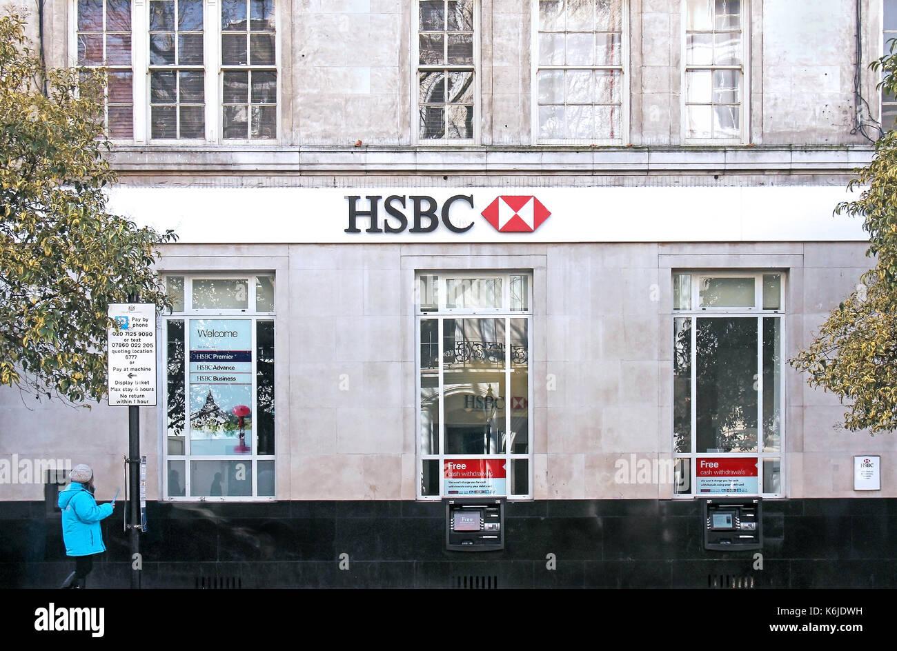 London Branch Hsbc Bank In Stock Photos & London Branch ...