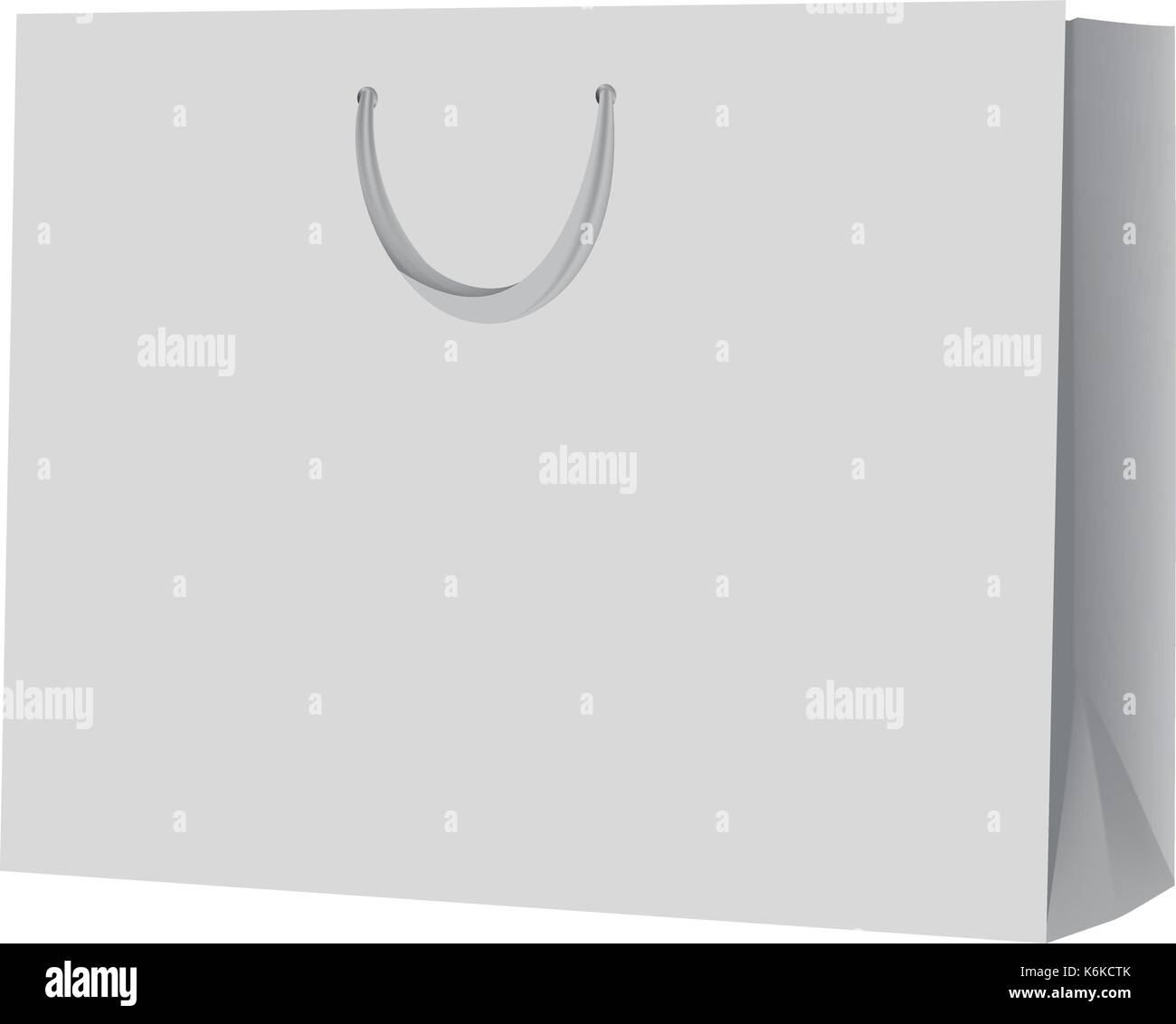empty shopping bag mockup realistic style stock vector art
