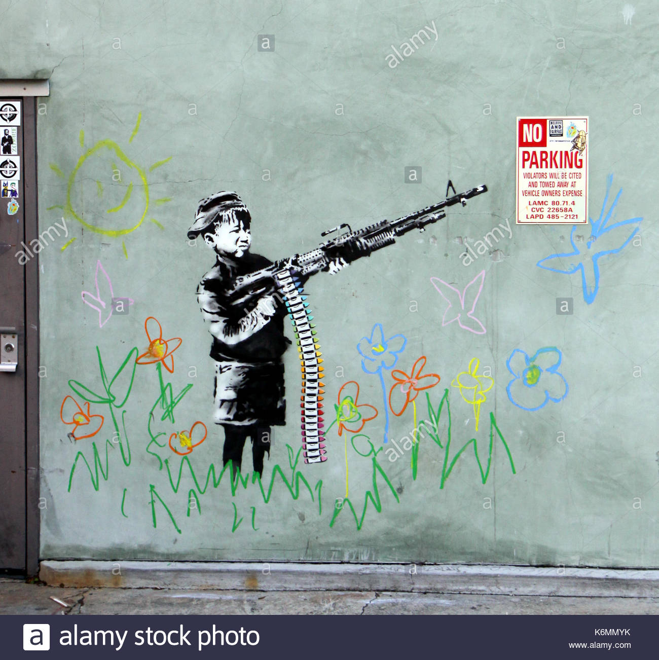 Graffiti Artist Banksy Is In Los Angeles For The Oscars As Three New Pieces Spring Up Overnight The Guerilla Graffiti Artist Whos Film Exit Through
