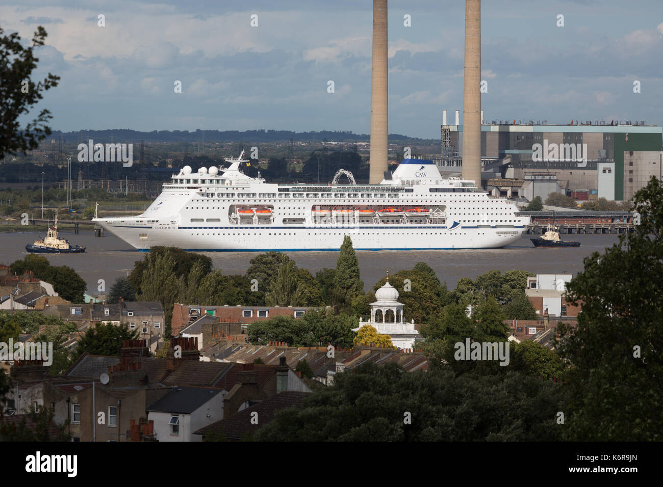 Gravesend Kent UK Th Sep Cruise Ship Columbus Pictured - Cruise ship delayed