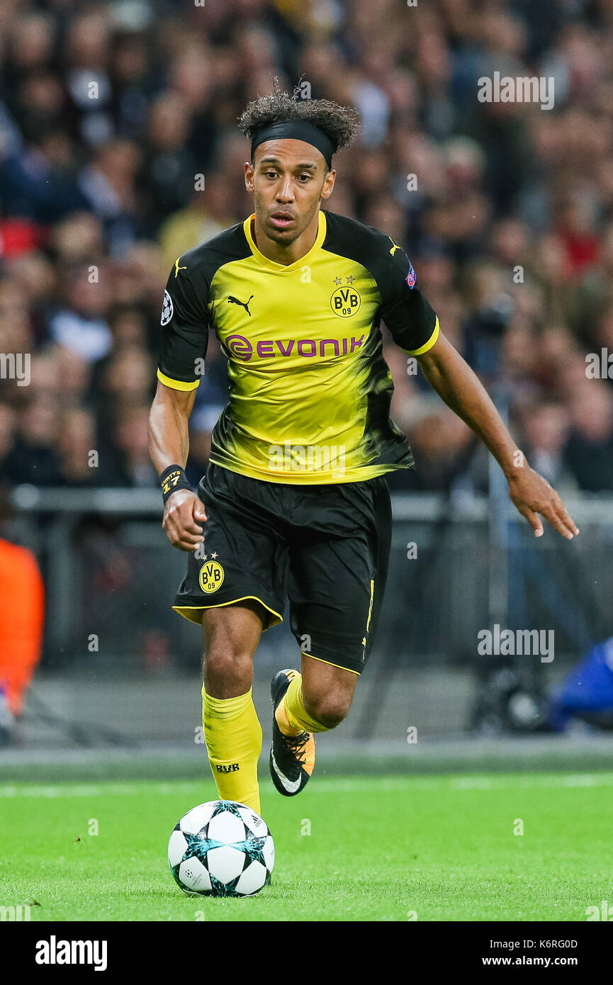London UK 13th Sep 2017 Pierre Emerick Aubameyang Dortmund