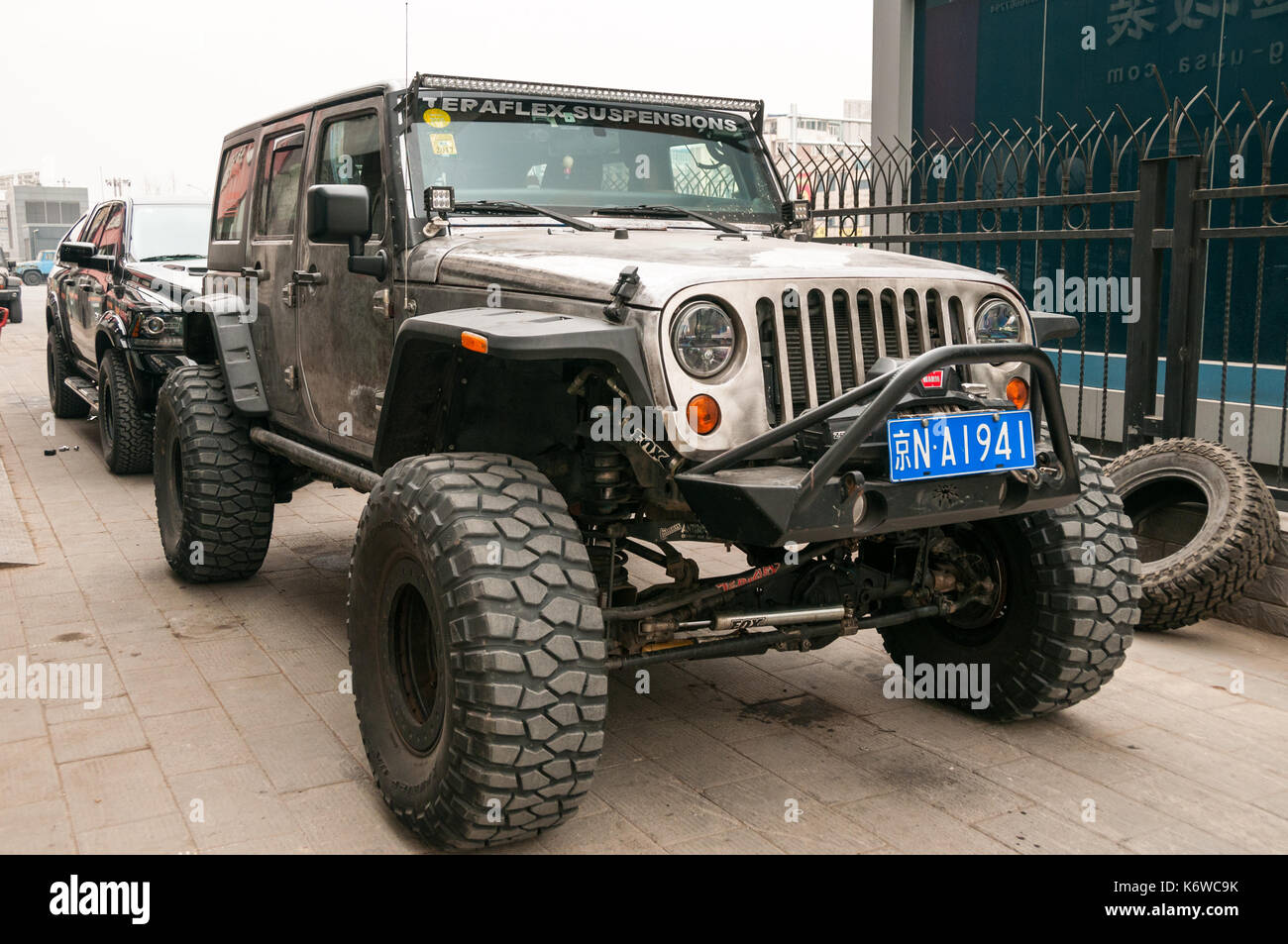 jeep wrangler stock photos jeep wrangler stock images alamy. Black Bedroom Furniture Sets. Home Design Ideas