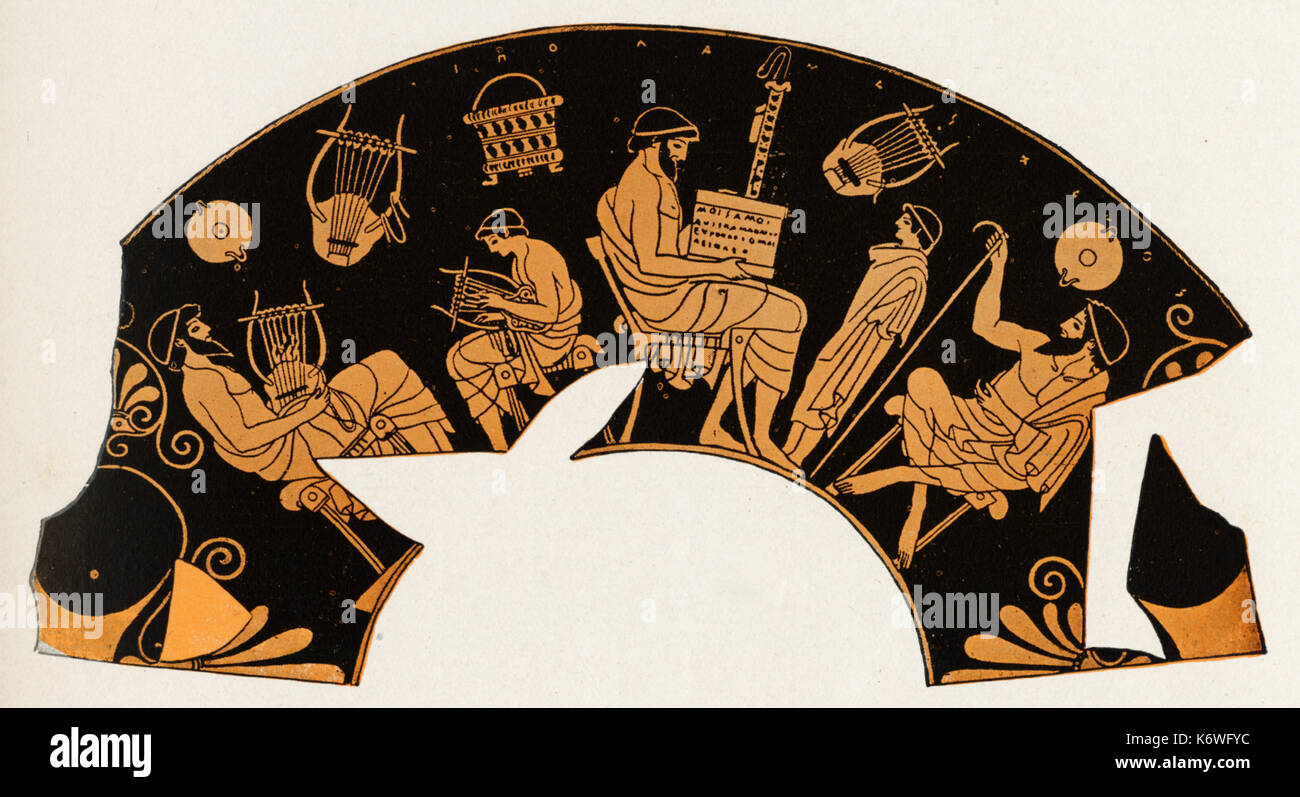 Greek vase painting stock photos greek vase painting stock music lesson in ancient greece vase painting greek vase painting showing music reviewsmspy