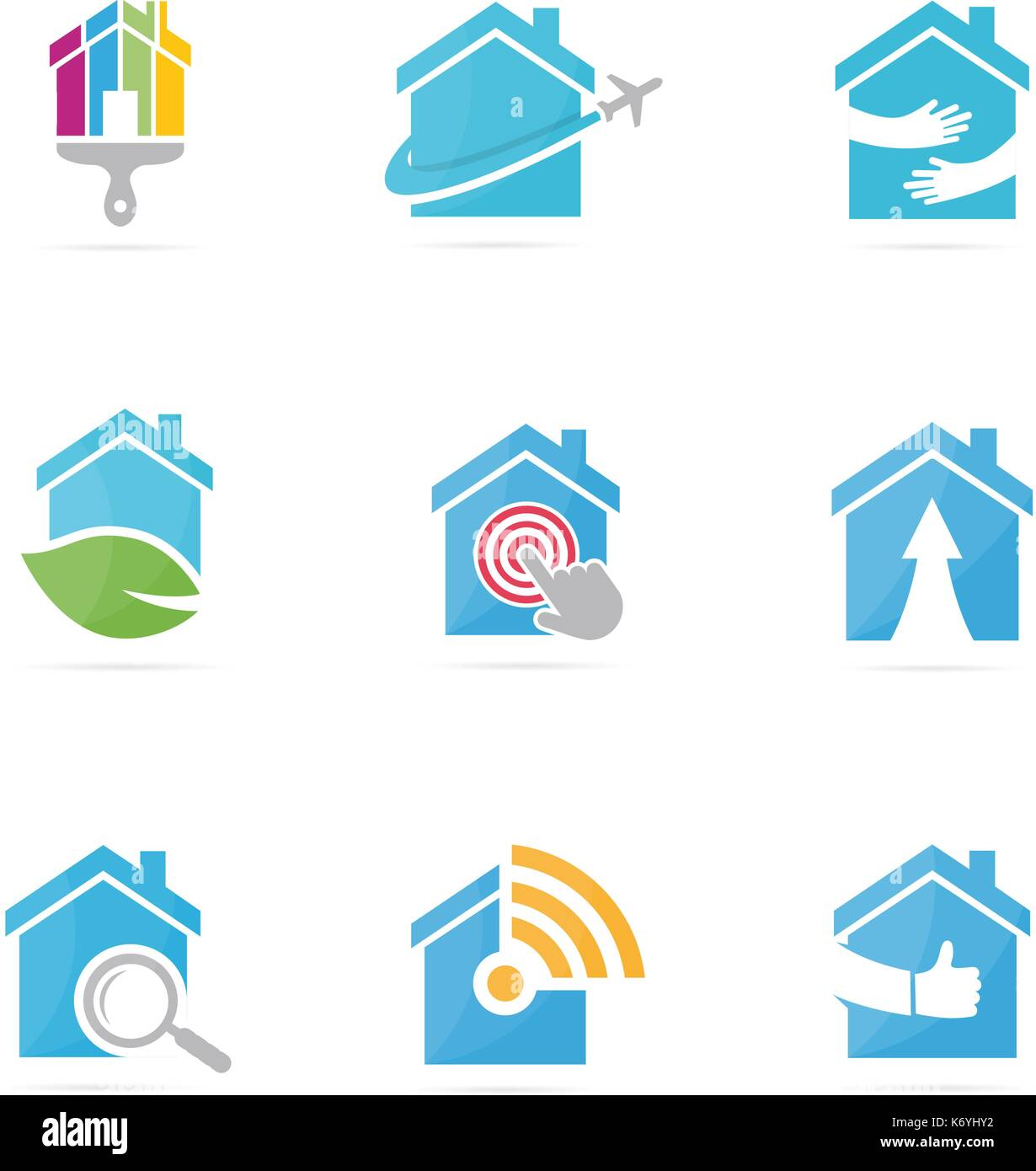 Set of real estate logo combination house and building symbol or set of real estate logo combination house and building symbol or icon unique rent biocorpaavc