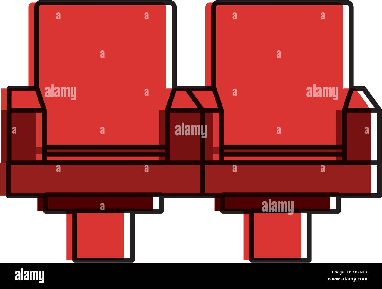Cinema Chairs Isolated Icon