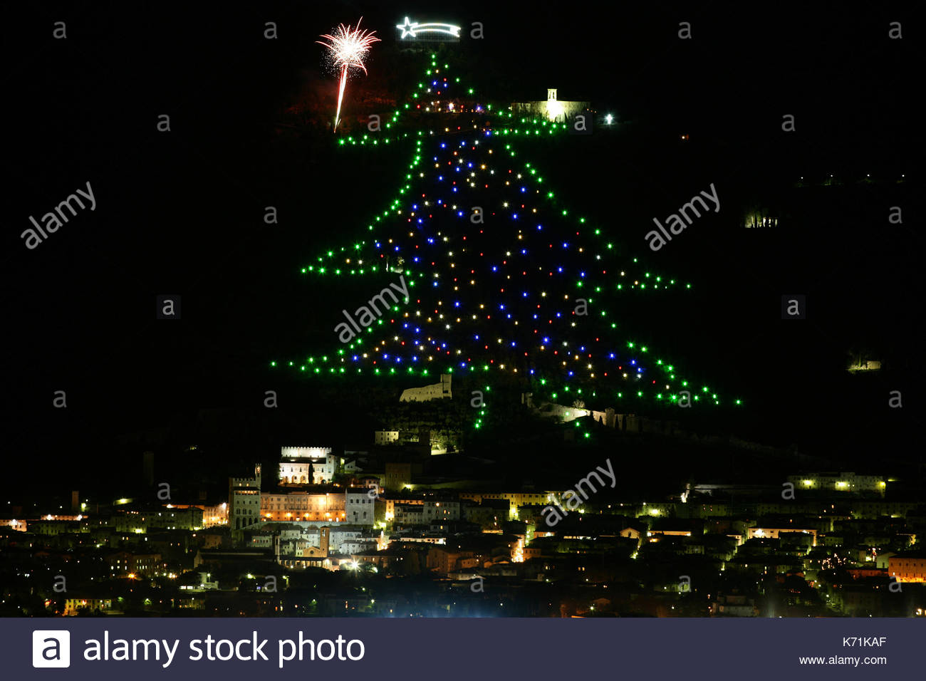 Gubbio Christmas Stock Photos & Gubbio Christmas Stock