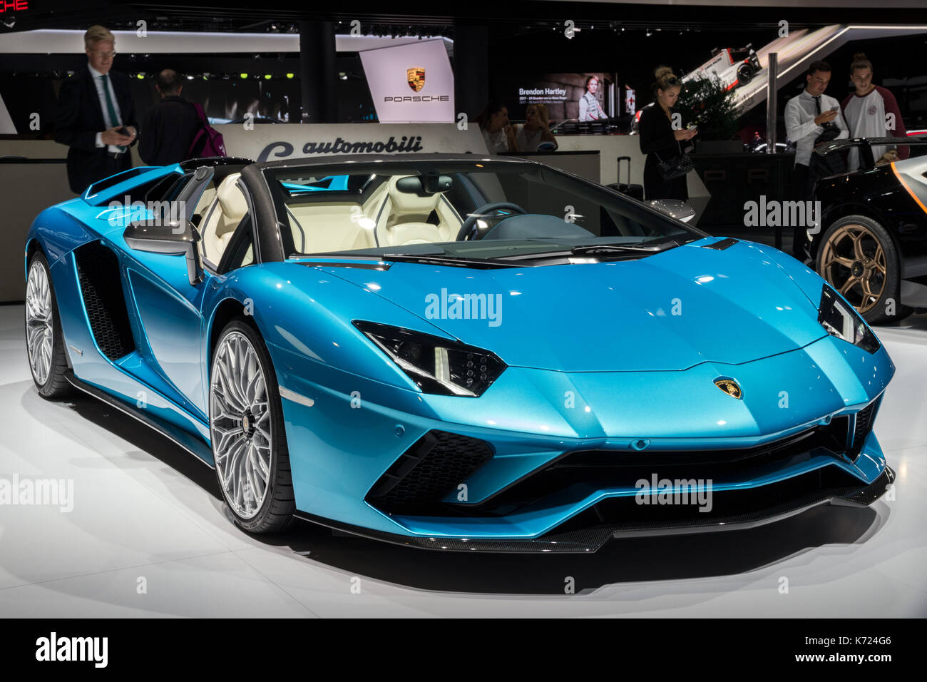 lamborghini car 2018. 13th sep, 2017. new 2018 lamborghini aventador s roadster sports car presented at the frankfurt iaa motor show credit: jlbvdwolf/alamy live news