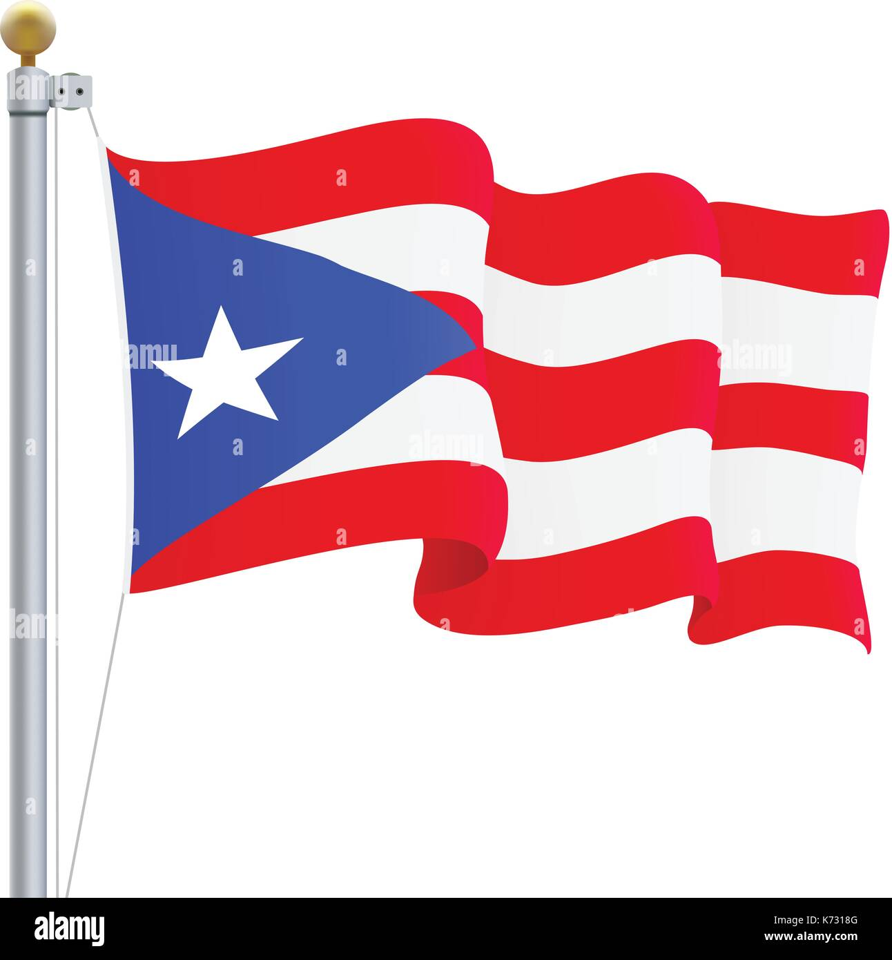 Puerto rico flag stock photos puerto rico flag stock images alamy waving puerto rico flag isolated on a white background vector illustration stock image biocorpaavc Choice Image