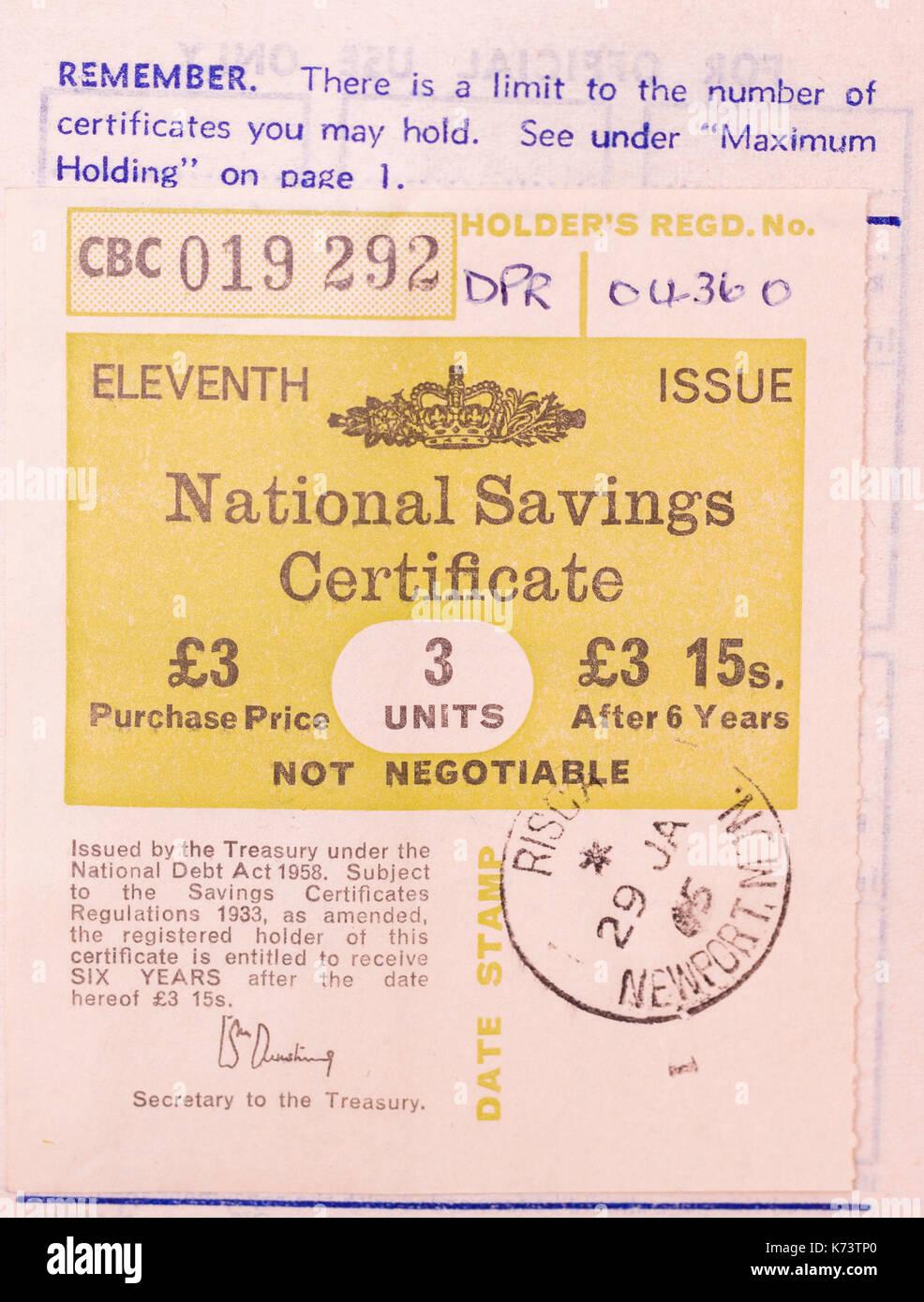 Pre decimal british national savings certificate issued by uk pre decimal british national savings certificate issued by uk treasury in 1965 1betcityfo Choice Image